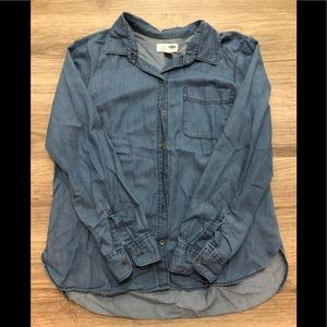Women's Old Navy Classic Blue Denim Shirt - Sz L
